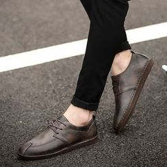 MR.GONG - Faux Leather Oxfords