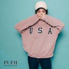 PUFII - USA小高领大学T