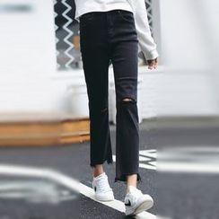 Dasim - 做舊直筒牛仔褲