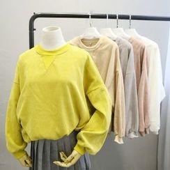 Phantasy - 純色燈芯絨套衫