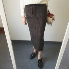 MATO - Ribbed Midi Skirt