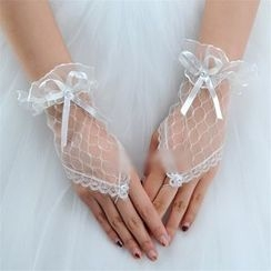 Merone - Bridal Mesh Fingerless Gloves