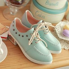 Pastel Pairs - Studded Oxfords