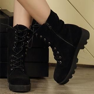 Exull - Studded Fleece-Lined Ankle Boots