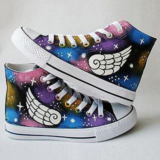 HVBAO - Painted Wings Canvas Sneakers