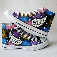 HVBAO - Painted Wings Canvas Sneakers