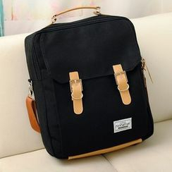 Jackpot Queen - Buckled Canvas Backpack