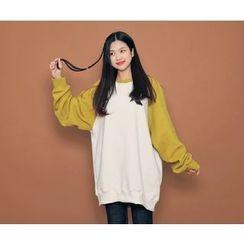 HOTPING - Reglan-Sleeve Cotton Pullover