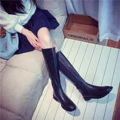 Zandy Shoes - Buckled Tall Boots