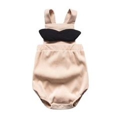 MOM Kiss - Baby Bow Accent Pinafore Bodysuit