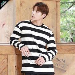 BYMONO - Crew-Neck Striped T-Shirt
