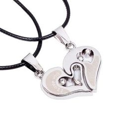 KINNO - Couple Matching Heart Necklace