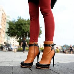 SO Central - Two-Tone Stiletto Ankle Boots
