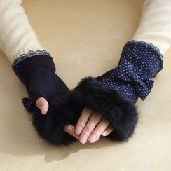 Lazy Corner - Fingerless Mittens
