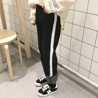 OCTALE - Contrast Trim Straight Fit Jeans