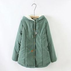 Angel Love - Rabbit Embroidered Hooded Parka