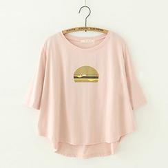 Meimei - 印花短袖T恤