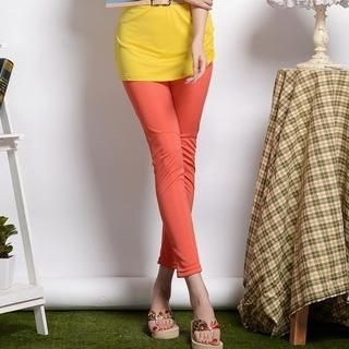 9mg - Elastic-Waist Cropped Skinny Pants