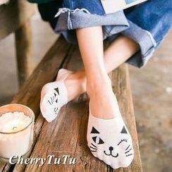 CherryTuTu - Cat Non-slip No-show Socks