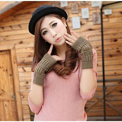 Azuki - Knit Fingerless Gloves
