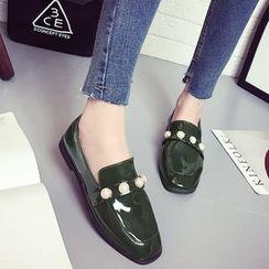 MANMANNI - 方頭珠珠樂福鞋