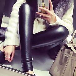 SUNA QUEEN - Faux Leather Leggings