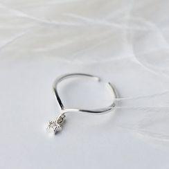 A'ROCH - S925 Silver Rhinestone Star Open Ring
