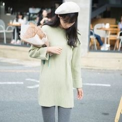 Wind Town - Ribbed Knit Tunic