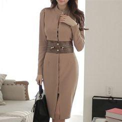 Aurora - Long-Sleeve Sheath Dress