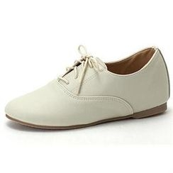 MODELSIS - Hidden-Heel Oxford Flats