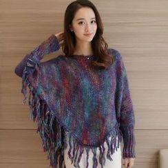 Sienne - Fringe Melange Sweater