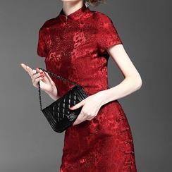 Alaroo - 立领短袖连衣裙