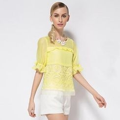 O.SA - Ruffled Organza Top