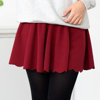 59 Seconds - Scalloped-Hem Skirt