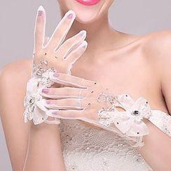 Suaylla - Rhinestone Wedding Gloves