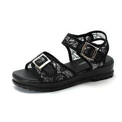 MODELSIS - Lace Buckled Velcro Sandals