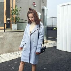 BZY - Double-Breasted Trench Coat