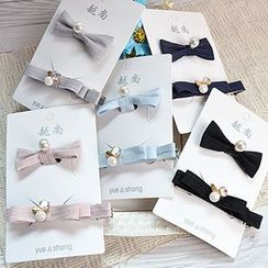 Tiea - Set: Bow Hair Tie + Hair Clip