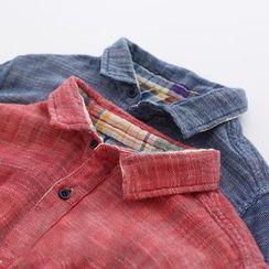 Meimei - Double Sided Plaid Shirtdress