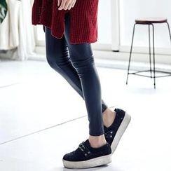 LULUS - Fleece-Lined Faux-Leather Leggings