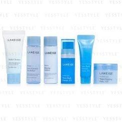 Laneige - Moisture Care Travel Kit (6 items): Cleanser 20ml + Essential 25ml + Emulsion 25ml + Essence 10ml + Cream 10ml + Sleeping Pack 20ml