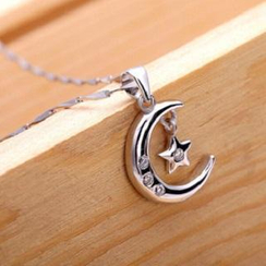 Zundiao - Sterling Silver Moon Pendant