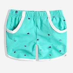 Happy Go Lucky - Kids Printed Sweat Shorts