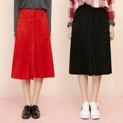 Heynew - Corduroy Midi Skirt