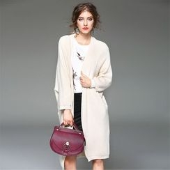Y:Q - Plain Long Cardigan