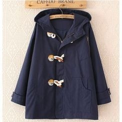 Citree - Embroidered Toggle Hooded Coat
