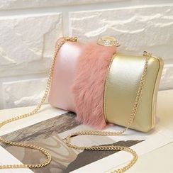 enoi - Furry Panel Clutch