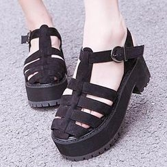 Mancienne - Strappy Chunky-Heel Sandals