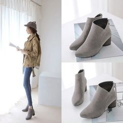 Pastel Pairs - Chunky Heel Ankle Boots