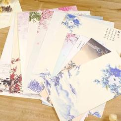 雲木良品 - 中國風水墨花鳥信封信紙